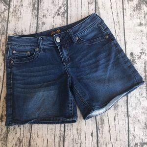 Womens Seven 7 Blue Jean Shorts Denim Shorts 4